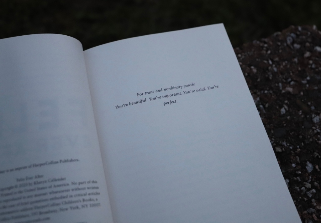 Felix Ever After Book Dedication
